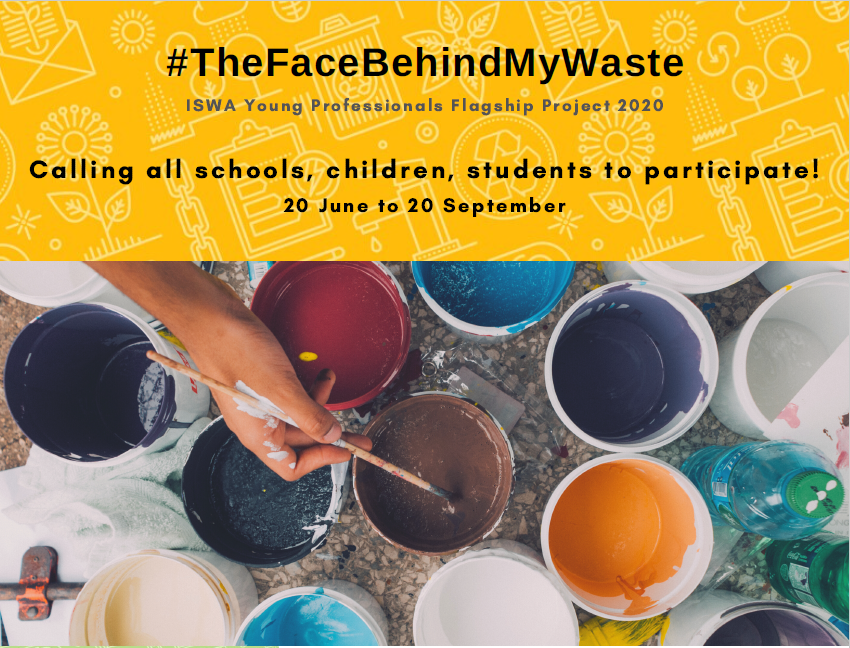 Image of paint cans and a call to all to participate in the face behind my waste art exhibition.