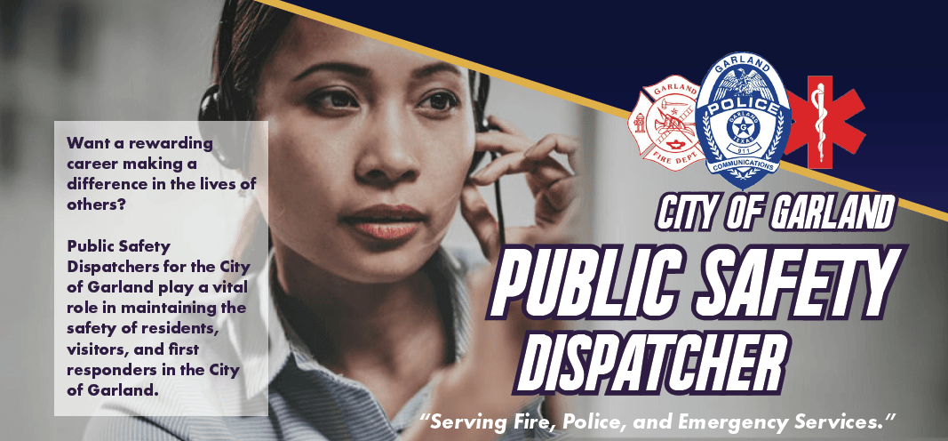 Cover photo of public safety dispatcher on phone