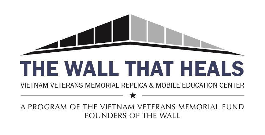 The wall that heals with Logo Blue Text