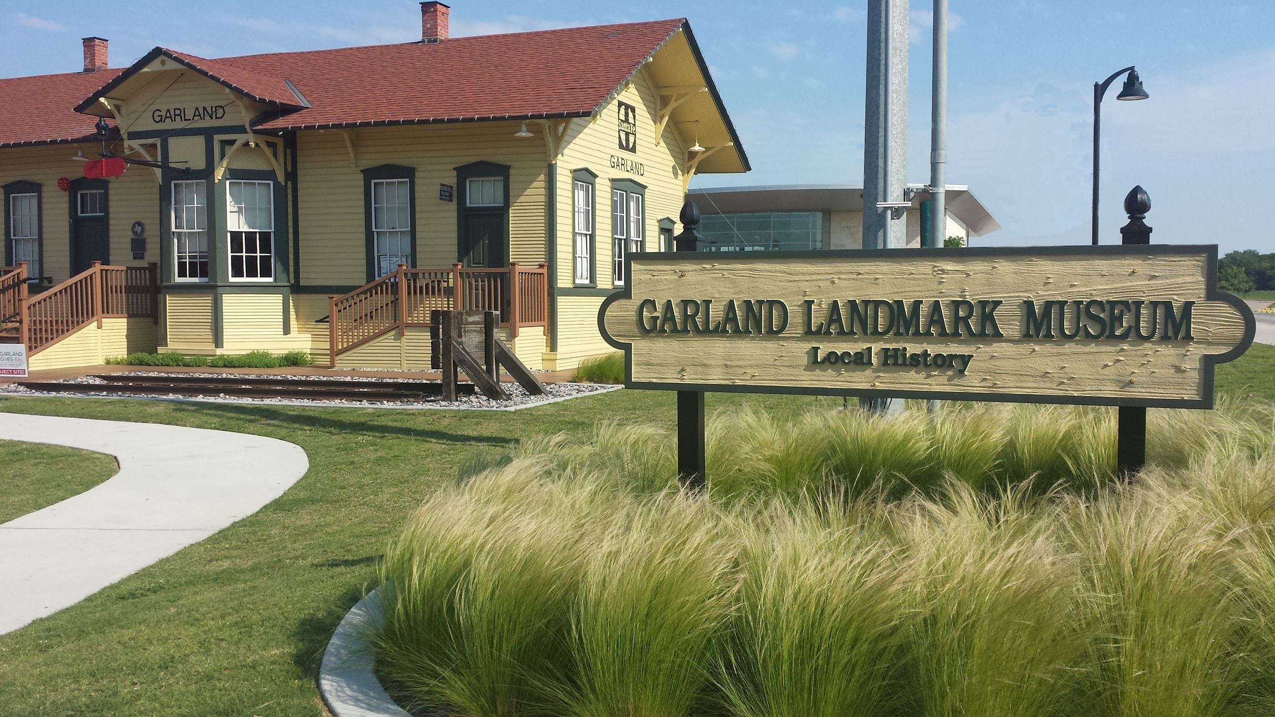 Garland Landmark Museum with Waving Grass in Front